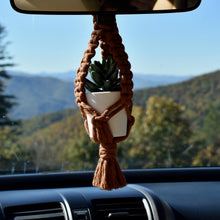 Load image into Gallery viewer, Mini Macrame Plant Hanger & Plant