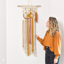 Load image into Gallery viewer, Colorful Handmade Macrame Wall Hanging