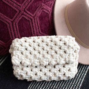 Handmade Macrame Clutch Purse
