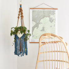 Load image into Gallery viewer, Handmade Two-Toned Macrame Plant Hanger