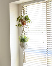 Load image into Gallery viewer, Handmade Double Macrame Indoor Plant Hanger