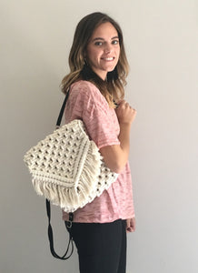 Handmade Macrame Backpack