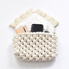 Load image into Gallery viewer, Handmade Macrame Clutch Purse