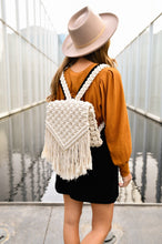 Load image into Gallery viewer, Handmade Macrame Backpack
