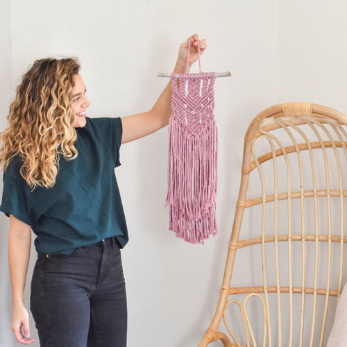 Mini Macrame Wall Hanging - 9 Color Options