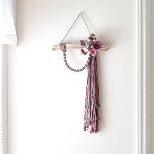 Multicolor Macrame Flower Wall Hanging