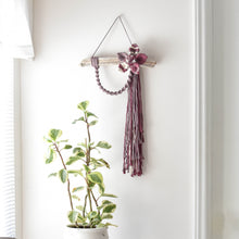 Load image into Gallery viewer, Multicolor Macrame Flower Wall Hanging