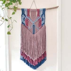 Handmade Sunset Macrame Wall Hanging