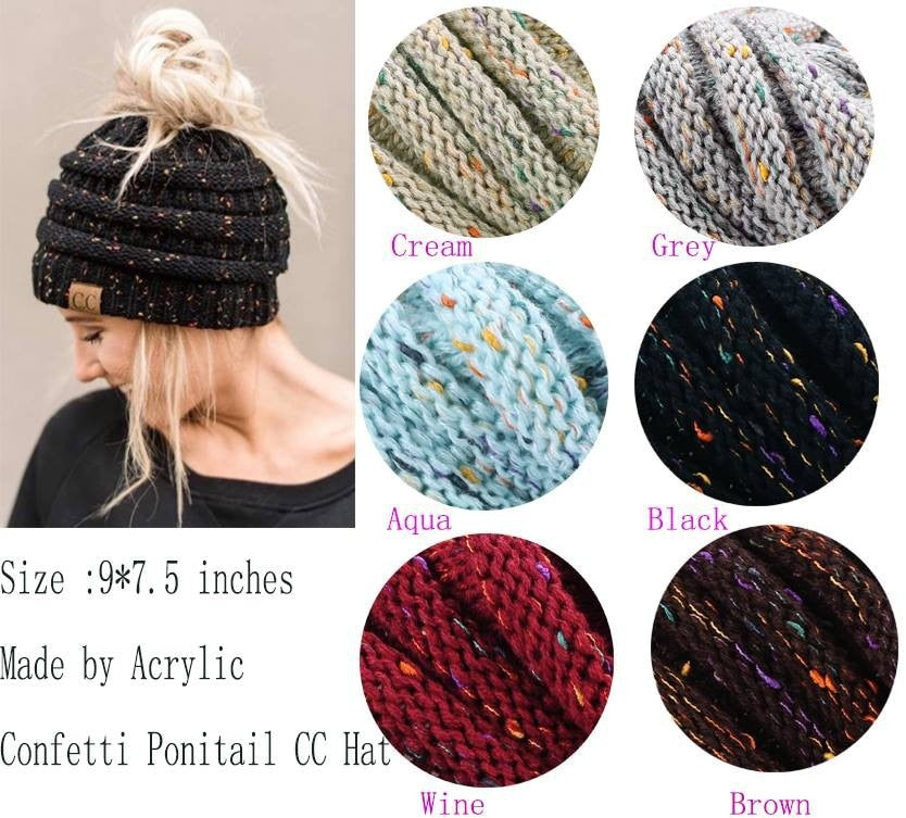 Soft Knit Ponytail Beanie - Trendings