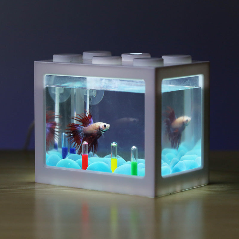Mini Aquarium Building Block Fish Tank (perfect for beta fish) - Trendings