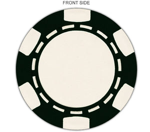 #231-DP: Full color direct print 6-stripe design poker chips - Customized by you