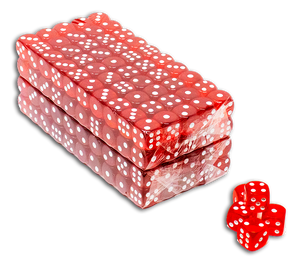 Set of 200 16mm translucent casino dice - Multiple colors available