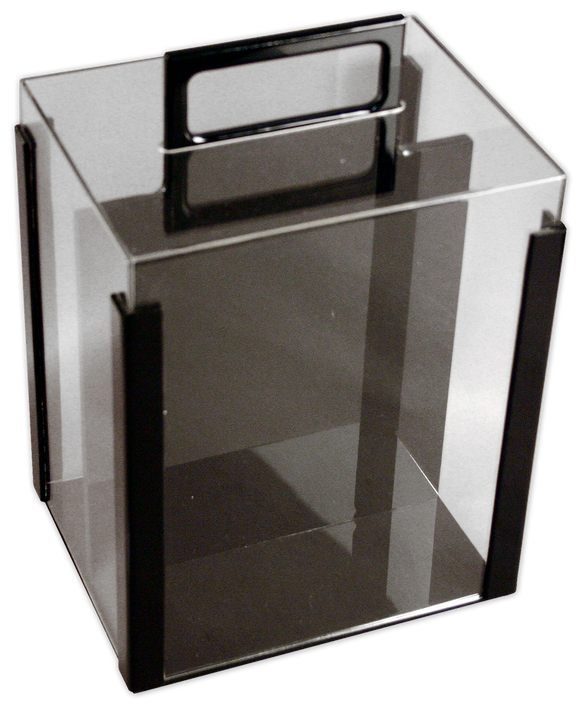 acrylic poker chip carrier - room for 10 chip trays and 1000 poker chips