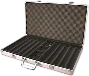 aluminum 750 chip capacity poker chips case