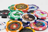 Custom 6 stripe full color 11.5 gram poker chips