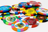 Full color custom poker chips with your logo - tri color design