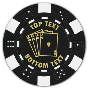 Custom Dice poker chips with pre-designed template - Just add your text