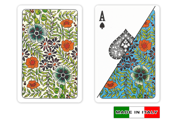 DA VINCI Italian plastic playing cards - Fiori design - bridge size normal index