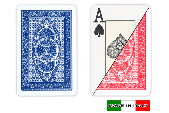 DA VINCI Italian plastic playing cards - ruote design - bridge size large index