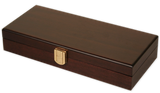 mahogany wood 100 capacity poker chips case