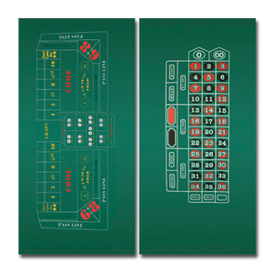 Two sided craps and roulette felt layout