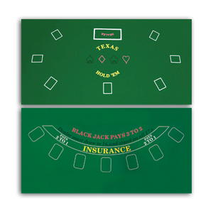 two sided poker and blackjack casino felt layout