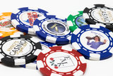 Direct print full color custom poker chips - 6 stripe design poker chips