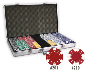 poker chips set in aluminum case with 750 chips