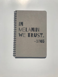 In Melanin We Trust Small Notebook