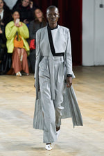 Grey Pleated Coat
