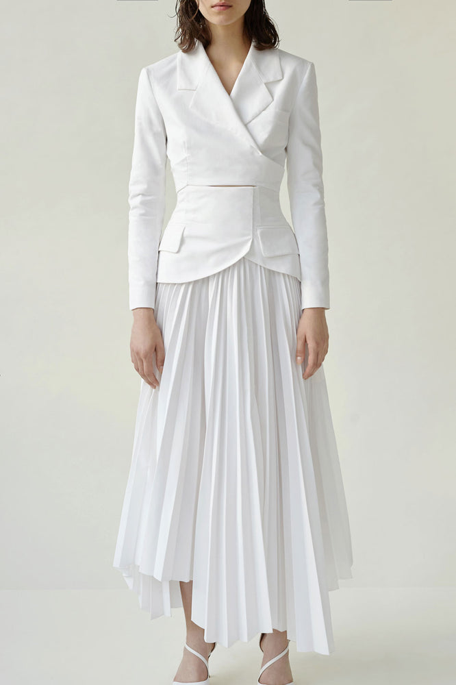 Pleated Basque Skirt