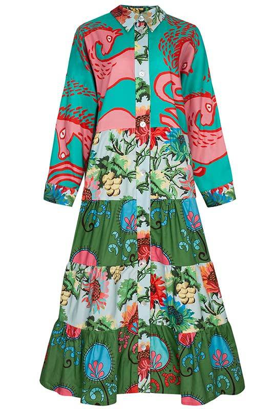 Loukoumi Volant Shirt Dress