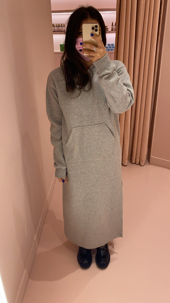 Hoodie Dress with Side Slit