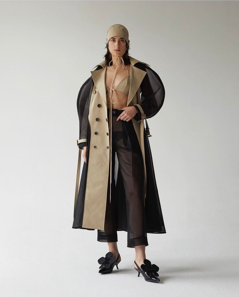 Detachable Sleeve Trench