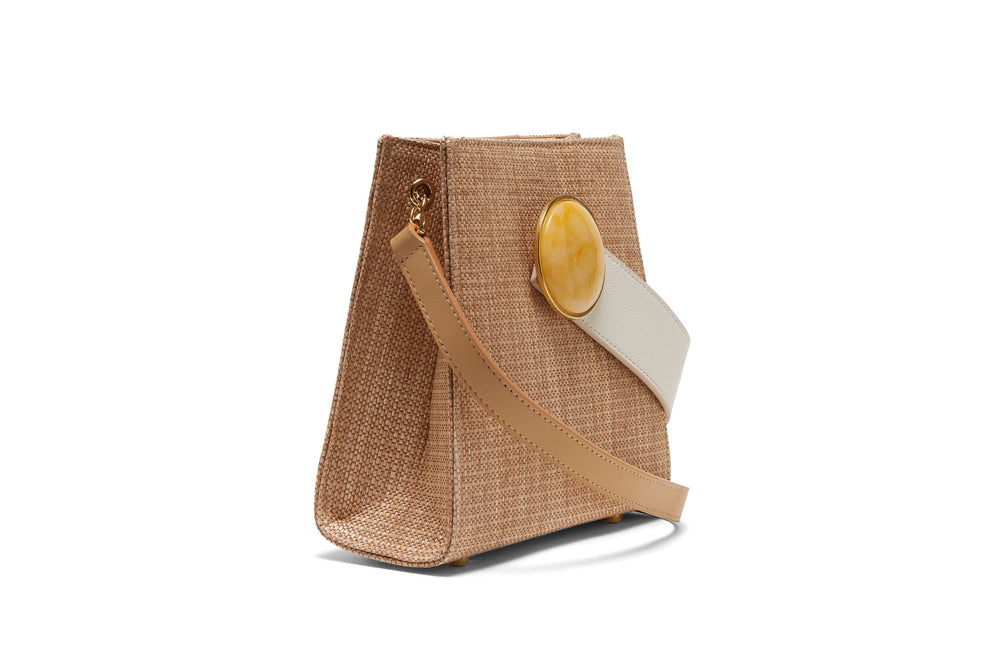 Pronto Purse In Woven Tan