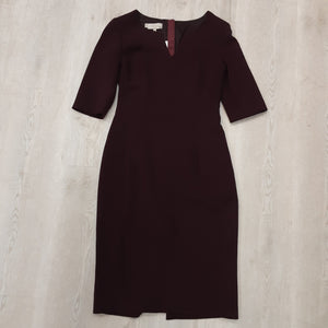 Hobbs Burgundy Dress (8)