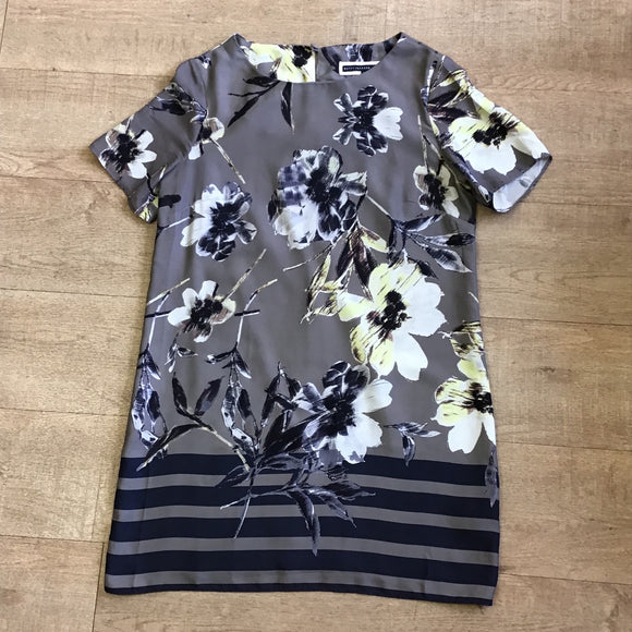 Betty Jackson Black Floral Tunic Size 14
