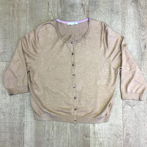 Boden Sand Button Up Cardigan Size L