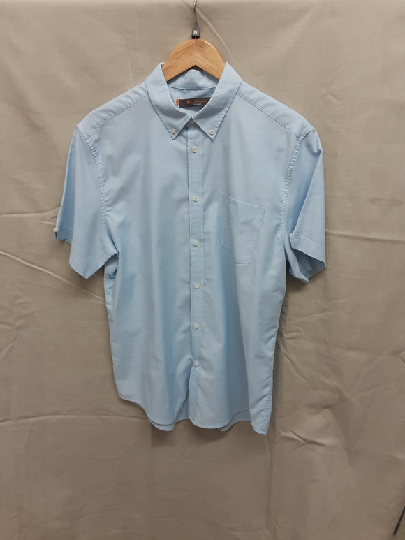 Ben Sherman mens light blue short sleeved shirt size XL - H70
