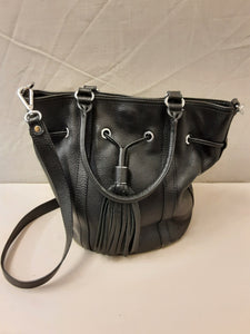 New Kesslord black leather shoulder bag
