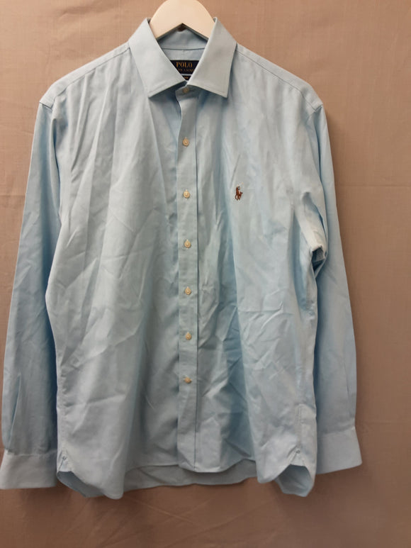 Mens Ralph Lauren long sleeved shirt in blue size 16.5 - H70