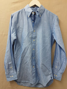 Mens Ralph Lauren blue linen long sleeve shirt size 14.5 - H70