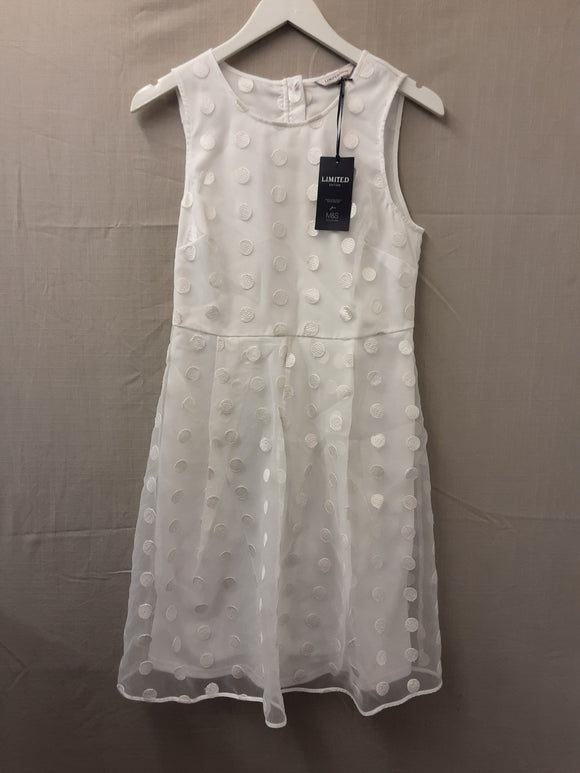 BNWT M&S limited collection white dress size 10