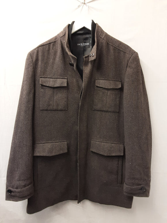 Mens Brown Wool Jack Reid Jacket Size L