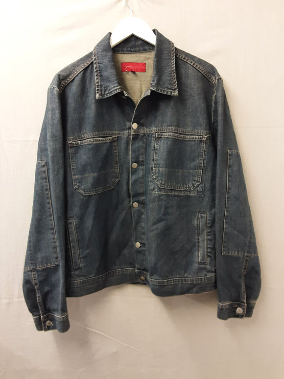 Mens  FCUK Blue Denim Jacket Size L
