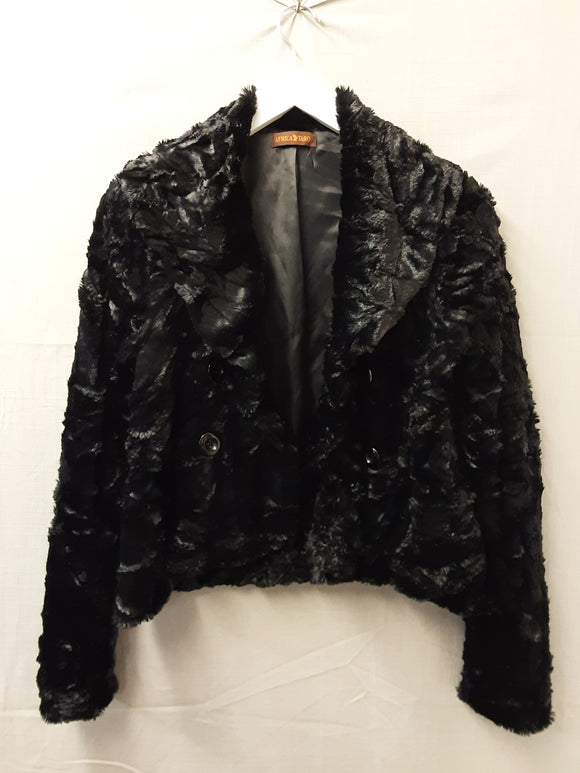 Africa Taro Soft Black Jacket Size S