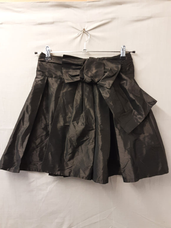 French Connection dark gold skirt with bow size 10 - H70