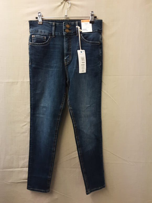 BNWT M&S skinny blue jeans size 10 - H70