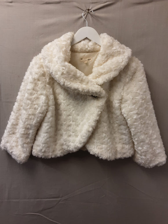 Cream fluffy Sally's jacket size M - H70