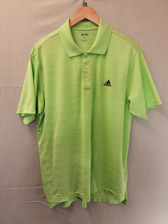 Mens Green Adidas Golf Polo Shirt Size XL
